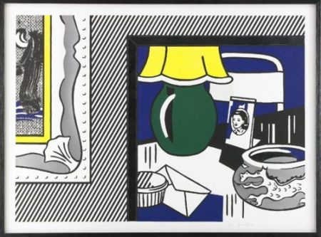 Roy Lichtenstein-Two Paintings: Green Lamp, From Paintings Series-1984