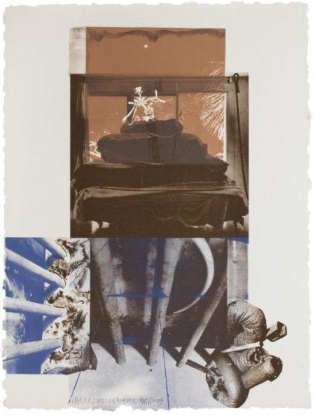Robert Rauschenberg-Robert Rauschenberg - Rookery Mounds (Night Tork)-1979