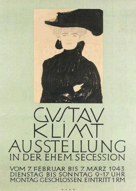 Gustav Klimt-Dame mit Hund-1943