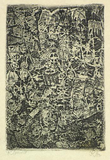 Paul Klee-Kleinwelt (Little World) (From 'Die Schaffenden', Sheet 3)-1914