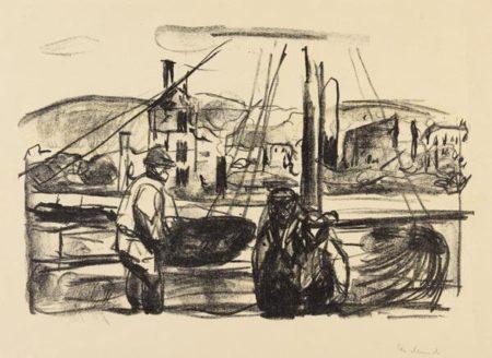 Edvard Munch-Nach dem Brande von Bergen II (Woll 576)-1916