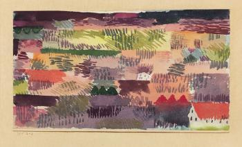 Paul Klee-Oberbayrische Landschaft Bei Fohn, Ried-1915
