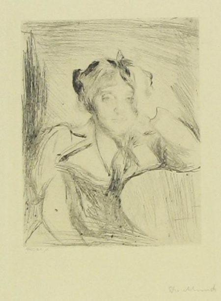 Edvard Munch-Portrait eines Jungen Madchens / Portrait of Young Lady (Woll 2/b/II)-1894