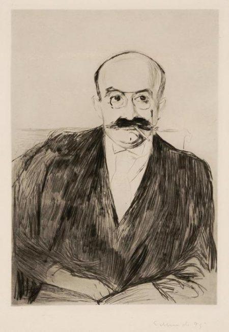 Edvard Munch-Dr. Max Asch / Portrait of Dr Max Asch (Schiefler 27; Woll 25)-1895