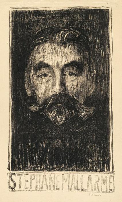Edvard Munch-Stephane Mallarme-1897