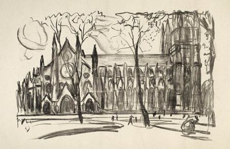 Edvard Munch-Westminster Abbey-1913