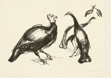 Edvard Munch-Der untreue Truthahn-1913