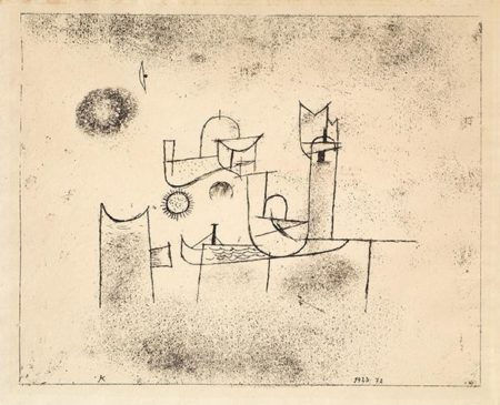 Paul Klee-Sonne im Thor (Sun in the Gate)-1923