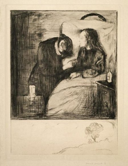 Das kranke Kind I / Das kranke Madchen / The Sick Child / The Sick Woman / Det syke barn (Schiefler 7; Woll 7)-1894