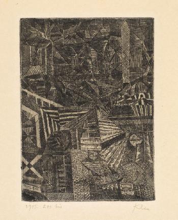 Paul Klee-Spiegelndes Fenster-1915