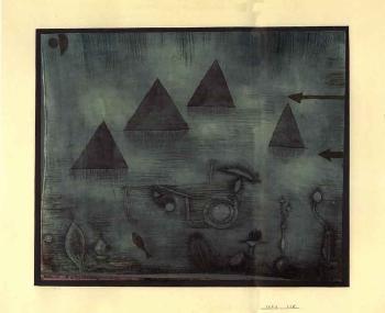 Paul Klee-Wasserpyramiden (Water Pyramids)-1924