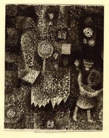 Paul Klee-Kind im Asterngarten (Child In A Garden Of Flowers)-1925