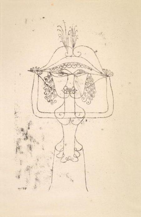 Paul Klee-Die Sangerin Der komischen Oper-1925