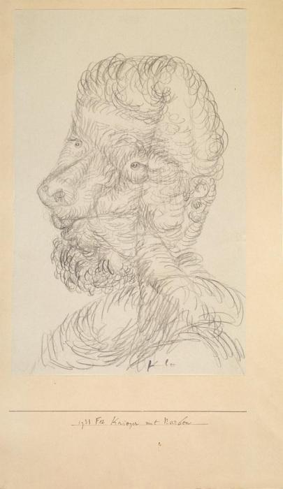 Paul Klee-Krieger Mit Narben-1933