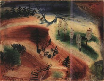 Paul Klee-Kl.Landschaft (Landscape)-1919