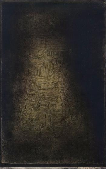 Paul Klee-Nachtlicher Fels (Nocturnal Rock)-1927