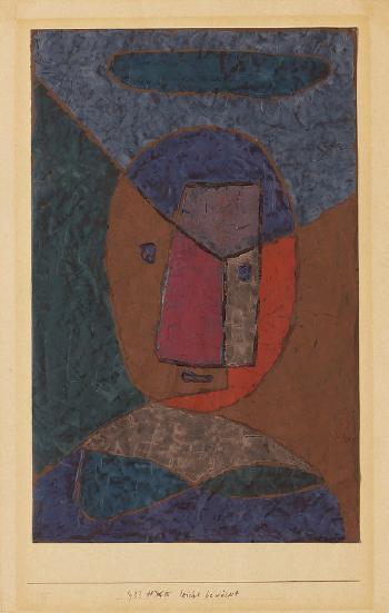 Paul Klee-Leicht Bewolkt (Kopf)-1933