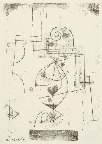 Paul Klee-Herzdame (Heart woman)-1921