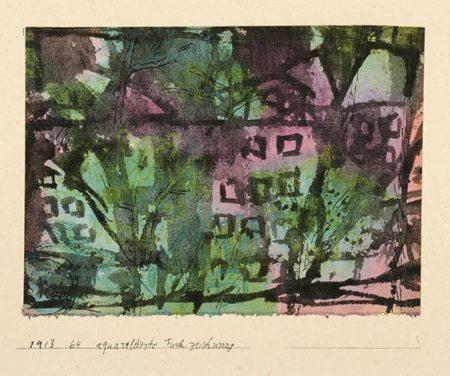 Paul Klee-Baume in Einer Stadtischen Strasse (Munchen)-1913
