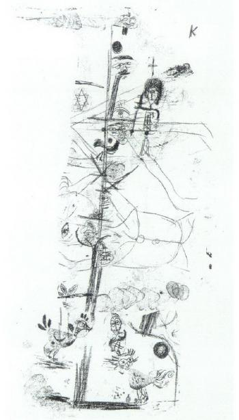 Paul Klee-Vogelkomodie (Bird Comedy)-1918
