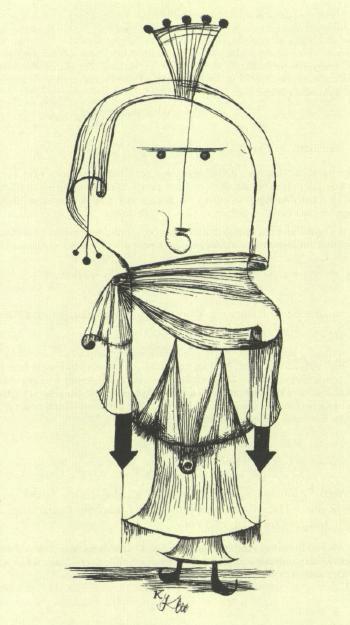 Paul Klee-Die Hexe Mit Dem Kamm (The Witch With A Comb) (From Kunstlerspende Fur Das Deutsche Buchmuseum, Leipzig)-1922