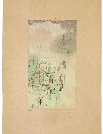 Paul Klee-Skizze Einer Heiligen Stadt-1919