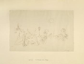 Paul Klee-Landschaft Mit Der Heiligen-1927