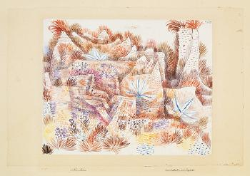 Paul Klee-Landschaft Mit Agaven-1927