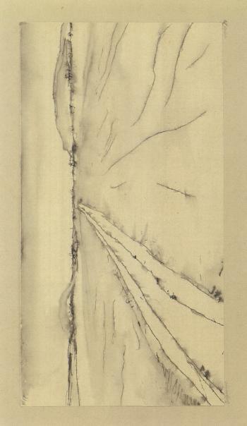 Paul Klee-Belpmoos - Mit dem Gurbekanal und dem Belpberg (Belpmoos - With Gurbe Canal And Belpberg)-1910