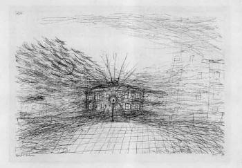 Paul Klee-Mond und Laterne, Belgradstrasse, Munchen-1911