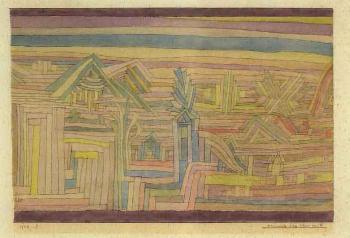 Paul Klee-Monumente In Der Ebene Von N (Monuments In The Plain Of N)-1926