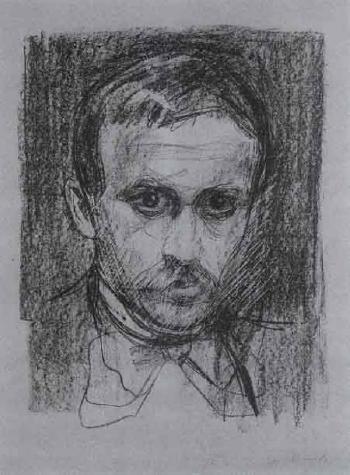 Edvard Munch-Portrait Sigbjorn Obstfelder-1896