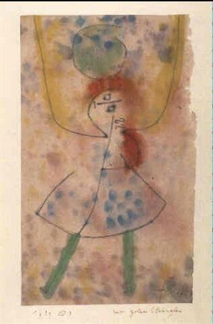 Paul Klee-Mit Grunen Strumpfen (With Green Stockings)-1939