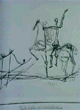 Paul Klee-Reiter Vor Dem Hindernis (Rider Before Hurdle)-1921