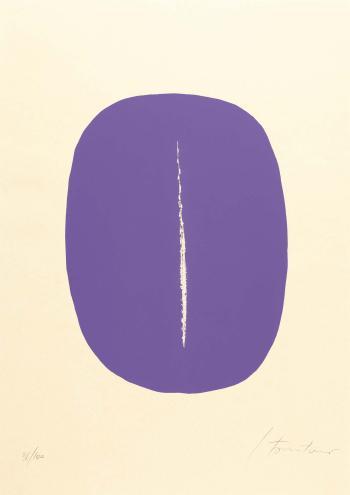 Lucio Fontana-Concetto spaziale-1965