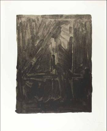 Jasper Johns-Figure 4, from the Black and White Numerals Series-1968