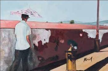 Peter Doig-Plakat: Ohne Titel (Men walking)-2004