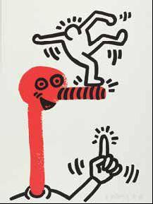 Keith Haring-Keith Haring - Bl. 1 aus der Folge: The story of red + blue-1990