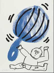 Keith Haring - Bl. 2 aus der Folge: The story of red + blue-1990