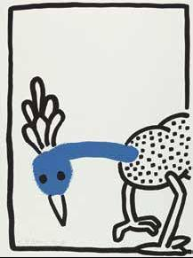 Keith Haring-Keith Haring - Bl. 8 aus der Folge: The story of red + blue-1990