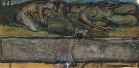 Paul Klee-Ohne Titel (Zwei liegende Akte).-1901