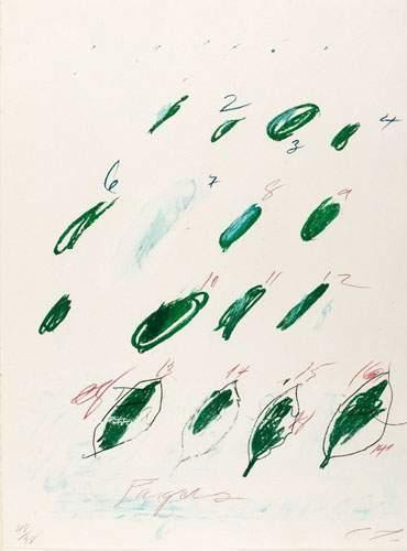 Cy Twombly-Fagus Silvatica aus: Natural History Part II, Trees.-1976
