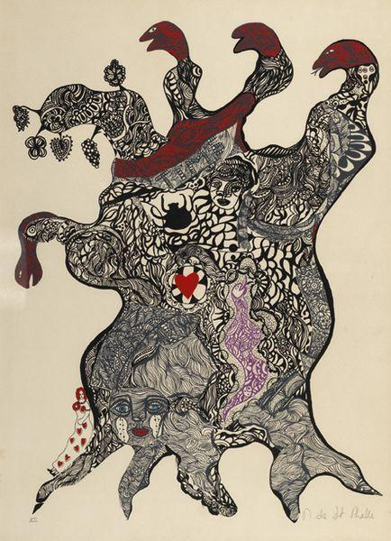 Niki de Saint Phalle-Larbre aux serpents, (Arbre aux Serpents, from Nana Power Portfolio), (Nana power)-1970