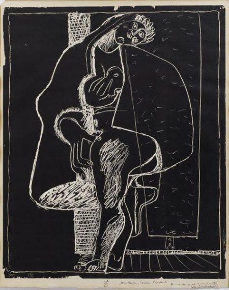 Le Corbusier-Petite confidences, planche 5 de la suite, 6-8-1957-1957
