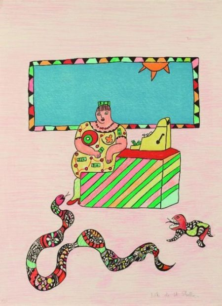 Niki de Saint Phalle-La caissiere, (Ohne Titel), (The Cashier)-1993
