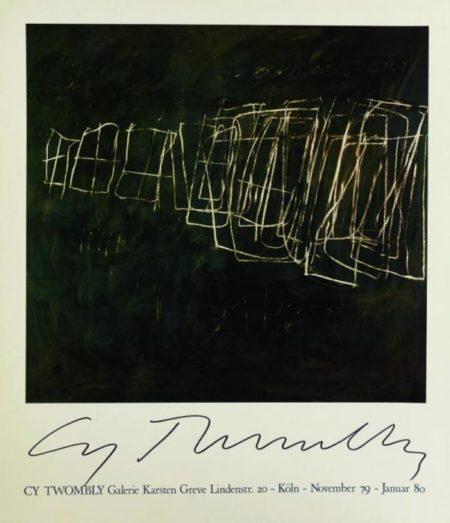 Cy Twombly-Galerie Karsten Greve-1980