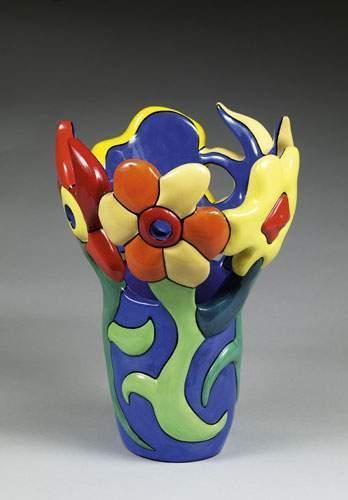 Niki de Saint Phalle-Flower Vase, ( Vase), (Vase de fleurs)-2000