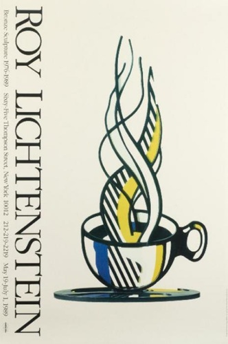 Roy Lichtenstein-Bronze sculpture - Cup and Saucer II-1977