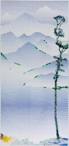 Roy Lichtenstein-Landscape with Tall Tree-1996
