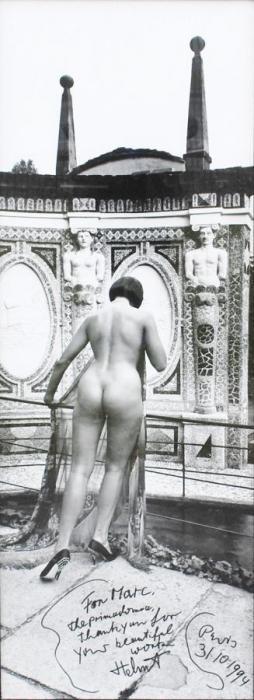 Helmut Newton-Nue dans la villa d'Este-1989